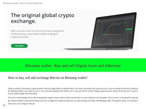 How do I access my Bitstamp wallet?