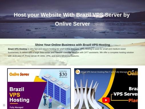 Enhance your Website Performance with Brazil VPS Hosting – Onlive Server