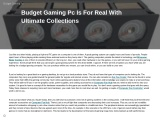 Budget gaming PC is for real with ultimate collections