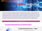 Most Powerful Canada Dedicated Server by Onlive Server