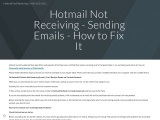 Hotmail not Receiving Emails? Here's How to Fix it