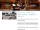 Miami Car Accident Lawyer: When to Contact Them After an Accident