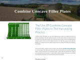 The Use Of Combine Concave Filler Plates In The Harvesting Process