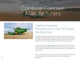 Combine Concave Manufacturers- How To Choose The Best One