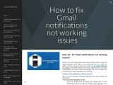 How do I fix Gmail notifications not working issues?