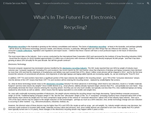 What are the benefits of recycling computers professionally?