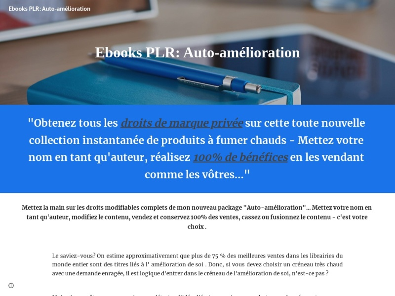 ebooks plr auto-amelioration