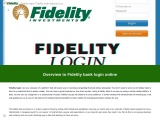 How to login into Fedility login online account?