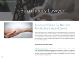 Services Offered By The Best Florida Burn Injury Lawyer