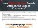 How Digital Signage Boards Attract And Engage Customers?