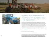 Maintain Peak Performance of Your Machinery By Purchasing Ford Tractor Parts