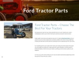 Ford Tractor Parts – Choose The Best For Your Tractors