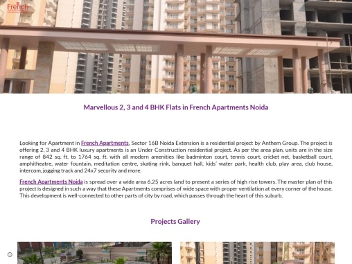 French Apartments Noida Extension