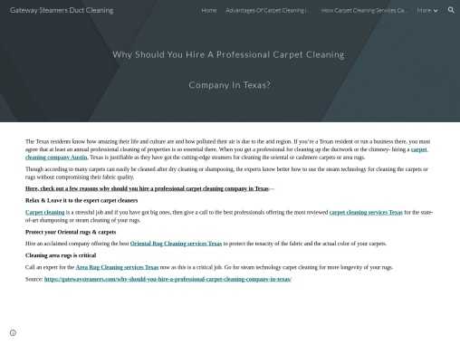 Why Should You Hire A Professional Carpet Cleaning Company In Texas?