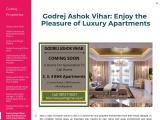 Godrej Ashok Vihar Launch New Project in Delhi with Luxury Amenities