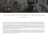 The Importance of Movie Production Lighting with Huge Success