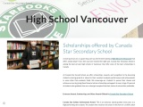 Scholarships offered by Canada Star Secondary School