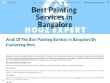 Avail Of The Best Painting Services in Bangalore By Contacting Here