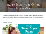 How to Teach Yoga Online Effectively