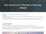 IV Therapies For Relieving Stress