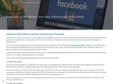 Important points Before You Start Advertising on Facebook