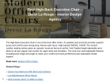 Best Executive Chair For Office- Decor La Rouge – Interior Design Agency