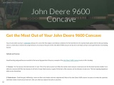 Get the Most Out of Your John Deere 9600 Concave