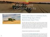 How John Deere Combine Parts Online Help Agro-Allied Businesses Save Time