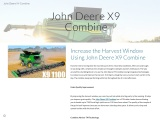 Increase the Harvest Window Using John Deere X9 Combine