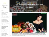Tips for Playing Mega Reel Slots Sites Machines