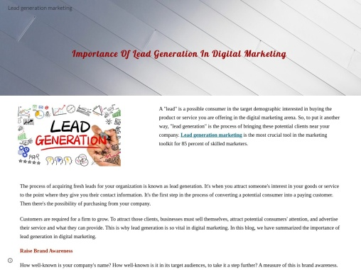 Are you looking for the best lead generation marketing company? || Propel Guru