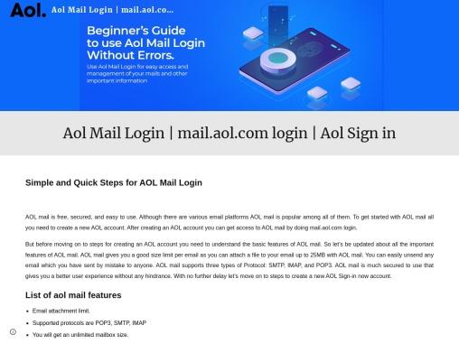 AOL mail login  |  aol mail |  mail.aol.com