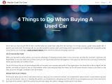 4 Things to Do When Buying A Used Car