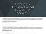 """How to Fix """"Outlook Cannot Connect to Server""""?"""