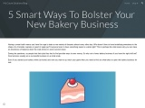 5 Smart Ways To Bolster Your New Bakery Business