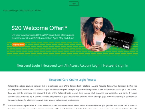 How to Login or Sign In Netspend visa or Prepaid Card?