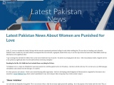 Latest Pakistan News About Women are Punished for Love