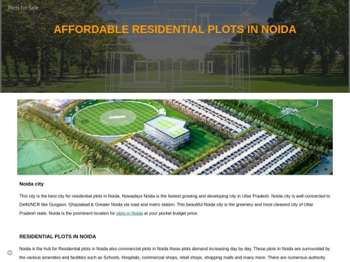 Authority Residential Plot in Noida