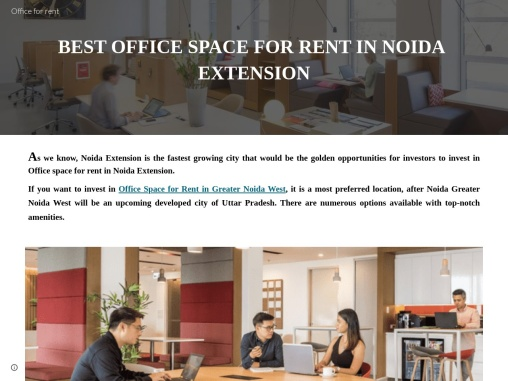 TOP OFFICE SPACE FOR LEASE IN NOIDA EXTENSION
