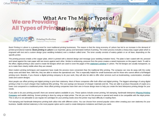 Printing Press – Brand Stationery Printing Products in Pakistan