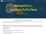 outlook send receive error | outlook error