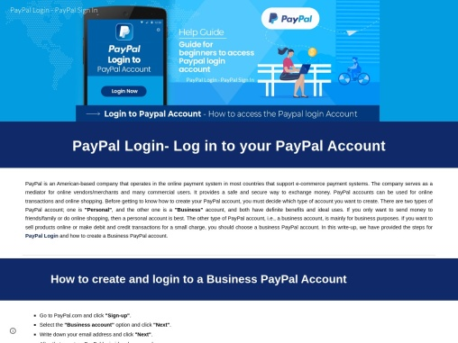 PayPal Login- Log in to your PayPal Account