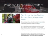 Tips To Help You Hire The Right Pompano Beach Car Accident Lawyer