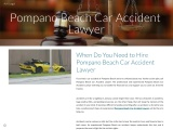 When Do You Need to Hire Pompano Beach Car Accident Lawyer