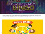 Online Bingo: More Than A Ordinary Trend