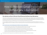 Recover Gmail Password Without Any Information
