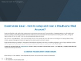 Roadrunner Email – How to setup and reset a Roadrunner Mail Account?