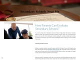How Parents Can Evaluate Secondary Schools?