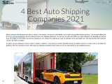 4 Best Auto Shipping Companies 2021