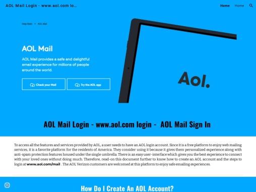 AOL Mail Login | Sign In AOL Mail